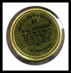 1964 Topps Coins #87  Bill Freehan   Back Thumbnail