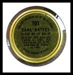 1964 Topps Coins #101   Earl Battey   Back Thumbnail