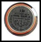 1964 Topps Coins #154   -  Frank Robinson All-Star Back Thumbnail