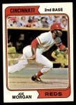 1974 Topps #85  Joe Morgan  Front Thumbnail