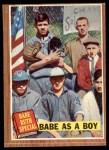1962 Topps #135 NRM  -  Babe Ruth Babe as a Boy Front Thumbnail