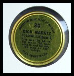 1964 Topps Coins #30   Dick Radatz   Back Thumbnail