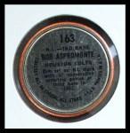 1964 Topps Coins #163   -  Bob Aspromonte All-Star Back Thumbnail