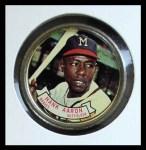 1964 Topps Coins #83   Hank Aaron   Front Thumbnail