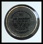1964 Topps Coins #92  Jim Hickman  Back Thumbnail
