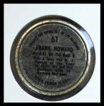 1964 Topps Coins #61   Frank Howard   Back Thumbnail