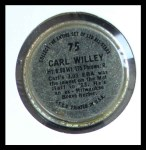 1964 Topps Coins #75   Carlton Willey   Back Thumbnail