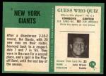 1966 Philadelphia #118   Giants Team Back Thumbnail