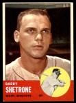 1963 Topps #276  Barry Shetrone  Front Thumbnail