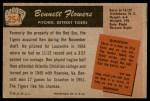1955 Bowman #254  Bennett Flowers  Back Thumbnail