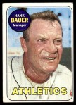 1969 Topps #124  Hank Bauer  Front Thumbnail