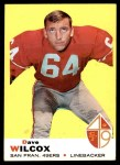 1969 Topps #44  Dave Wilcox  Front Thumbnail