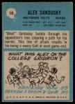 1964 Philadelphia #10  Alex Sandusky   Back Thumbnail