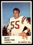 1961 Fleer #66  Matt Hazeltine  Front Thumbnail