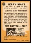 1967 Topps #67  Jerry Mays  Back Thumbnail
