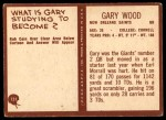 1967 Philadelphia #131  Gary Wood  Back Thumbnail