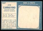 1961 Topps #187  Joe Cannavino  Back Thumbnail