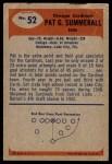 1955 Bowman #52  Pat Summerall  Back Thumbnail