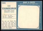1961 Topps #152  Sid Youngelman  Back Thumbnail