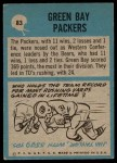 1964 Philadelphia #83   Packers Team Back Thumbnail