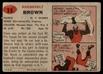 1957 Topps #11  Roosevelt Brown  Back Thumbnail