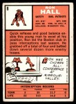 1966 Topps #8  Ron Hall  Back Thumbnail