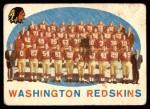 1959 Topps #91   Redskins Team Checklist Front Thumbnail
