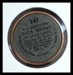 1964 Topps Coins #147   -   Dick Groat All-Star Back Thumbnail