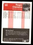 1985 Fleer #155  Roger Clemens  Back Thumbnail