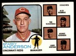 1973 Topps #296   -  Sparky Anderson / Alex Grammas / Ted Kluszewski / George Scherger / Larry Shepard Reds Leaders Front Thumbnail