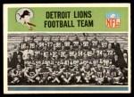 1965 Philadelphia #57   Lions Team Front Thumbnail