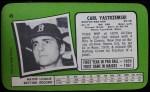 1971 Topps Super #49  Carl Yastrzemski  Back Thumbnail