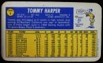 1970 Topps Super #9  Tommy Harper  Back Thumbnail