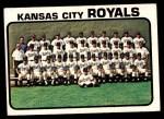 1973 Topps #347   Royals Team Front Thumbnail
