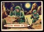 1957 Topps Space Cards #46   Collecting Minerals on the Moo Front Thumbnail