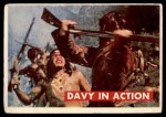 1956 Topps Davy Crockett Green Back #14   Davy in Action  Front Thumbnail
