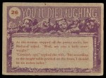 1959 Topps / Bubbles Inc You'll Die Laughing #26   Start with the ankles Back Thumbnail