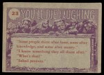 1959 You'll Die Laughing #23   You're whole family Back Thumbnail