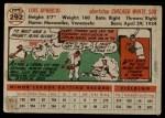 1956 Topps #292  Luis Aparicio  Back Thumbnail