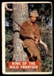 1956 Topps Davy Crockett Orange Back #1   King of the Wild Frontier     Front Thumbnail