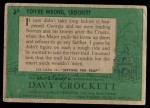1956 Topps Davy Crockett Green Back #6   You're Wrong Back Thumbnail