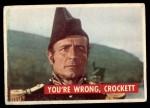 1956 Topps Davy Crockett Green Back #6   You're Wrong Front Thumbnail