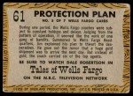 1958 Topps TV Westerns #61   Protection Plan  Back Thumbnail