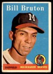 1958 Topps #355  Bill Bruton  Front Thumbnail