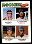 1977 Topps #488   -  Jack Clark / Ruppert Jones / Lee Mazzilli / Dan Thomas Rookie Outfielders Front Thumbnail