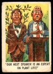 1959 Topps / Bubbles Inc You'll Die Laughing #13   Our next speaker is Front Thumbnail