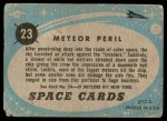 1957 Topps Space Cards #23   Meteor Peril Back Thumbnail