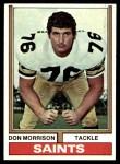 1974 Topps #476  Don Morrison  Front Thumbnail
