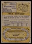1974 Topps #447  Bill Bergey  Back Thumbnail