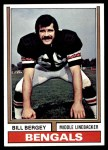 1974 Topps #447  Bill Bergey  Front Thumbnail